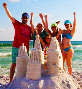 Family Sand Sculpture